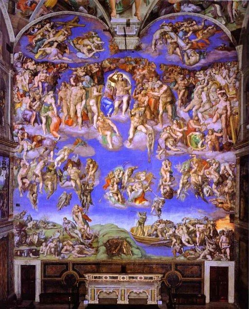Michelangelo's Last Judgement public domain