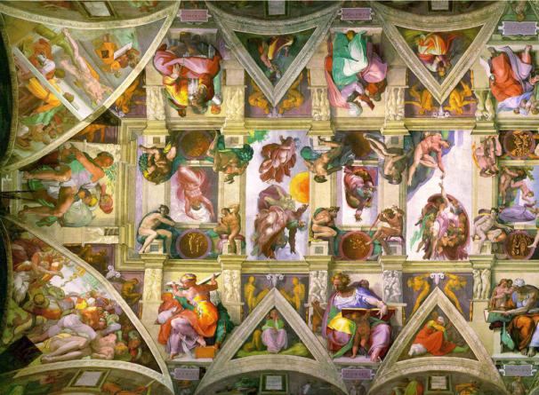 Sistine_Chapel_ceiling_left public domain