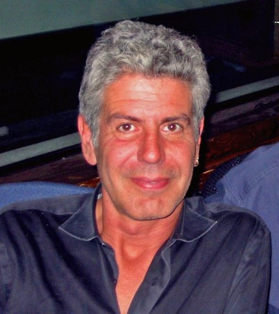 By WNYC New York Public Radio. Cropped and edited by Daniel Case (Anthony Bourdain and Leonard Lopate) [CC-BY-2.0 (http://creativecommons.org/licenses/by/2.0)], via Wikimedia Commons