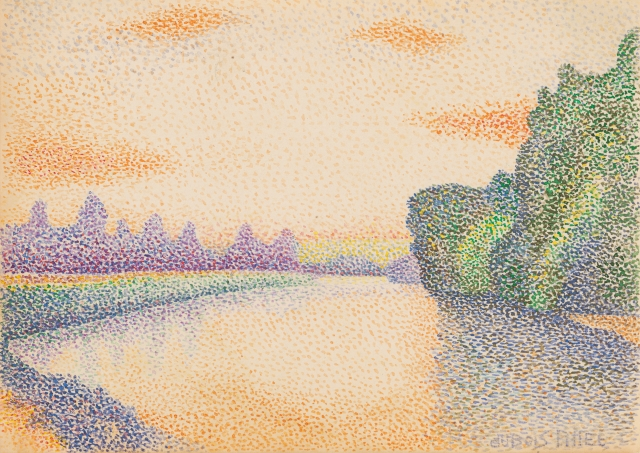 all these pointillism by wikimedia pub domain