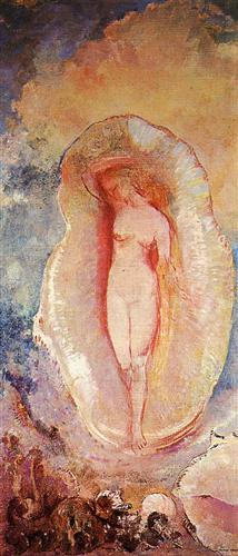 all birth of venus by Odilon Redon via wikiart.org pub domain