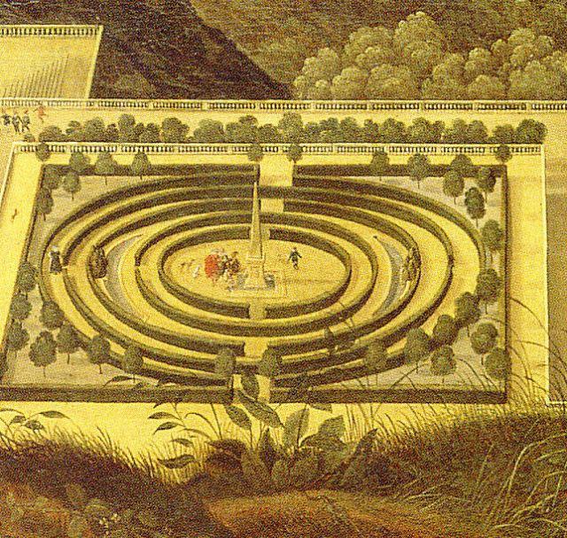 Labyrinth_im_Hortus_Palatinus_von_Jacques_Fouqueres_vor_1620